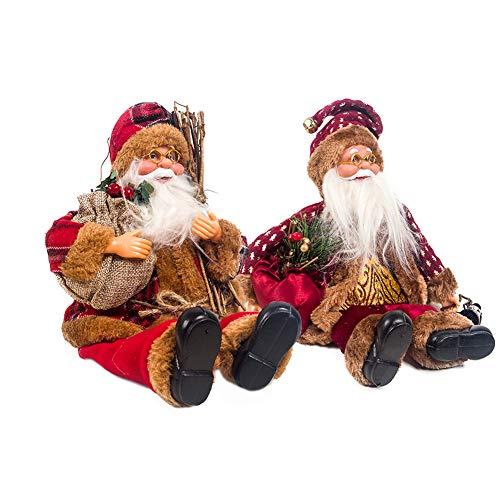 Weihnachtsmann Weihnachtsmänner Deko Nikolaus Santa Claus Paradise Deko,Nikolaus Santa Clause Figur Groß Weihnachts Deko - 3 Verschiedene Optionen (2 Stück)