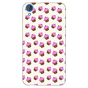 Jugaaduu Cupcake Love Back Cover Case For HTC Desire 820