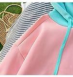 ZJSWCP Sweat-Shirt Mode Couleur Spell Coudre À Capuche Sweat Femmes Kawaii Drôle De Bande Dessinée Batman Polaire Pull Rose Harajuku Vêtements,L