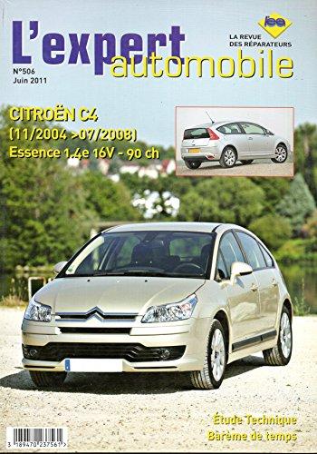 Revue technique CITROEN C4 Essence 1.4e 16V 90cv du 11/2004 au 07/2008 LEA506 – Juin 2011