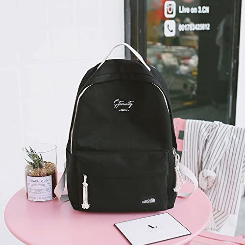 SQBB New New New embroiderosso schoolbag girl, Korean version, high school student backpack, pure Coloreee, wild bag, shoulder bag tide,nero mirror Sachet B07FYQSDXL Parent | Per Vincere Elogio Caldo Dai Clienti