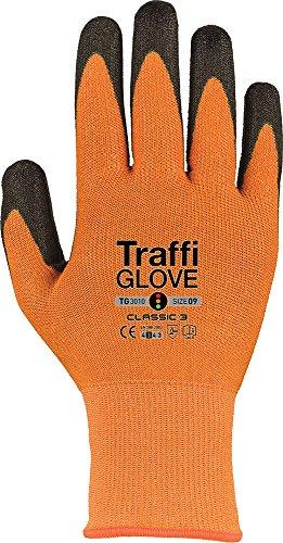 traffiglove tgz3010-11Größe 27,9cm Klassischer Schnitt 7,6cm Nylon/HPPE Shell 9428450x-dura PU Palm beschichtet Handschuhe-Bernstein -