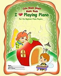 Cute Blank Sheet Music Book