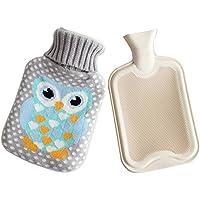 ECYC® HeißWasserflasche Premium-Gummi Mit Cartoon-Gestricktasche Abnehmbarer Bezug preisvergleich bei billige-tabletten.eu