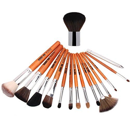 Domybest 15 pcs Pinceaux de maquillage Poudre Fond de Teint Fard à paupières Blush Brosse de
