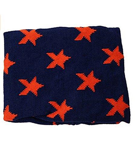 HENGSONG Collier Bébé Pentagram Knit Anneau Foulard Hiver Écharpe Wrap Marine