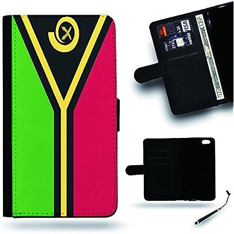 Per Cellulare Negozio//2016Coppa Coppa del Mondo Case Cover Protezione Completa Custodia a portafoglio in pelle Slot per Apple Iphone 6Iphone 6s iPhone6/iphone6s/vanuatu Bandiera
