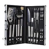 WOLTU Grillbesteck Set Edelstahl mit Aluminium-Koffer 18-teilig BBQ Grillzubehör Barbecue Grillen Werkzeuge CPG8126