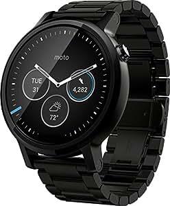 Motorola Moto 360 (2nd Gen) 46mm Black Dial with Black Metal Bracelet Smart Watch