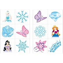 72 Ice Princess Temporary Tattoos (6 Bags Of 12) - Frozen Pinata Loot/Party Bag Fillers by Henbrandt