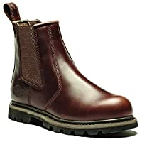 Dickies Mens Fife Leather Steel Toe Safety Dealer Boots (10) (Brown)