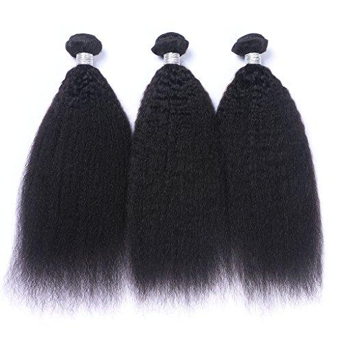Noir naturel/droites soyeuses 100 GG/Bundle 3bundle/de longueur 20,3 cm à 61 cm tissage 100% cheveux humains Extensions capillaires