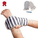 2 Stücke Doppelseitige Peeling Wäscher Mitts Tiefe Peeling Handschuhe für Körper Gesicht Rücken...