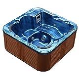 Beliani Whirlpool - Spa 6 Places - Acrylique Haute qualité Bleu - Sanremo...