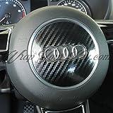 Karbonfaser Schwarz glänzend Audi Airbag Wrap Overlay S RS A1A3A4A6A8TT Q3Q5Q7