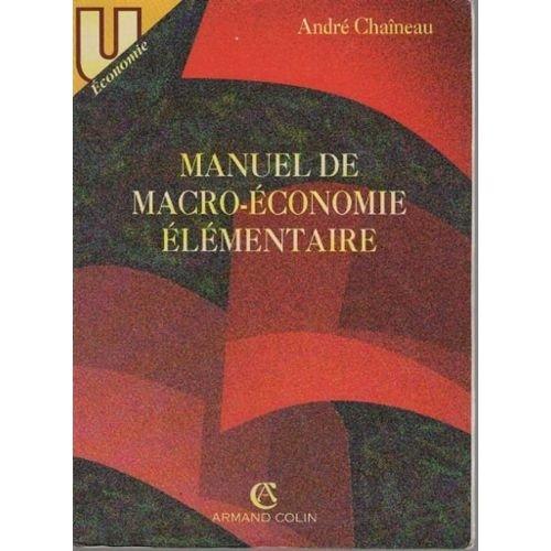Manuel de macro-économie élémentaire