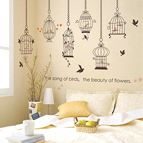 Weaeo Modern Home Decals Poster Das Lied Der Vögel, Die Schönheit Der Blumen Wandaufkleber Wohnzimmer SchlafzimmerDekoration Wandbilder