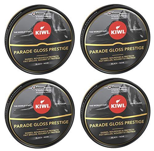 Kiwi - Crema en Lata para Calzado Shoe Polish Negro [Pack de 4]