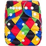 Happy Cherry Pañal de Tela Ajustable Rellenable Lavable Transpirable Reutilizable Diaper para Bebés Niños Niñas 0 - 3 Años