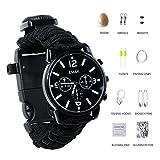 Paracorde de survie montre/bracelet d'urgence kit, homme et femme Outdoor Survival...