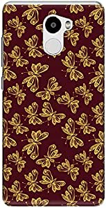 The Racoon Lean printed designer hard back mobile phone case cover for Xiaomi Redmi 4. (Red Romati)