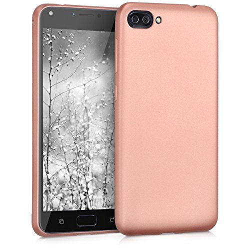 kwmobile ASUS Zenfone 4 Max (ZC520KL) Hülle - Handyhülle für ASUS Zenfone 4 Max (ZC520KL) - Handy Case in Metallic Rosegold
