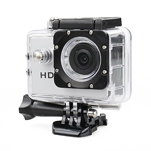 Opta Pro Sports Action Camera Dvr Recorder 720p, Up To 5mp, 140 Degree Hd Wide-angle With Water Proof Housing, Different Connection Accessories And Micro Usb 2.0 In (silver)