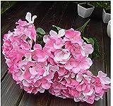 cofco 7Head Künstliche Seide Hortensie Blumen Hochzeit Party Decor Bouquet–Pink