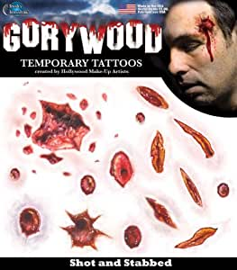 Prise de vue / Poignardé - Transferts Tinsley - Tatouages ??de Hollywood .