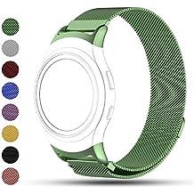 Correa de reemplazo iFeeker para reloj inteligente Samsung Gear S2, cierre magnético de acero inoxidable, SM-R720R730, color verde