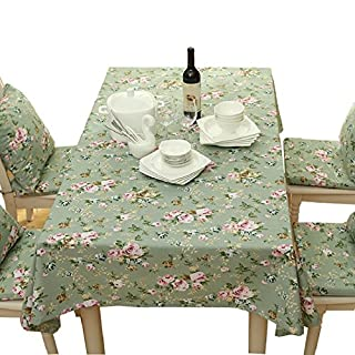 Alicemall 50% Cotton 50% Polyester Tablecloth European Style Floral Print Dust Cover for Kitchen Table Cloth 140*220cm/55x86 inch(type 10)