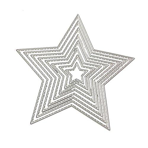 Plantillas de metal para troquelar, álbum de fotos, decoración, diseño de estrellas