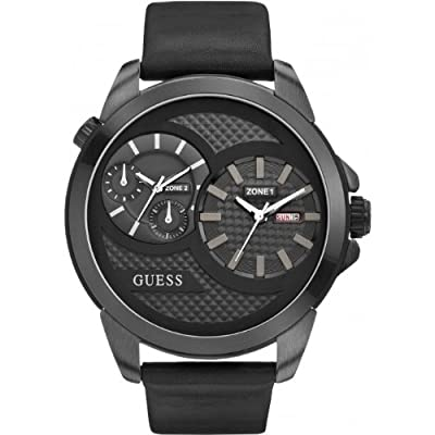 Guess W0184G1 - Reloj de pulsera hombre, piel, color negro
