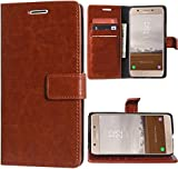 Erotic Mercury Magnetic Lock Diary Wallet Style Flip Cover Case for Samsung Galaxy On5 Pro (Brown)