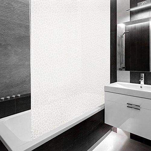 Duschrollo MILKY STONE mit Halbkassette - Stein Mosaik - 140x240cm thumbnail
