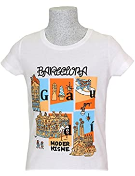 [Sponsorizzato]T-SHIRT BARCELONA MODERNISME · BAMBINE E RAGAZZE · 100% COTONE BIOLOGICO · MEDIUM FIT · MR. MAU