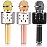 Wireless WS-858 Bluetooth Microphone Handheld Stand with Speaker for Cellphone (Multi-Colour)