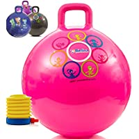 bintiva Hippity Hop 45 Cm Including Free Foot Pump, For Children Ages 3-6 Space Hopper, Hop Ball Bouncing Toy 1 Ball