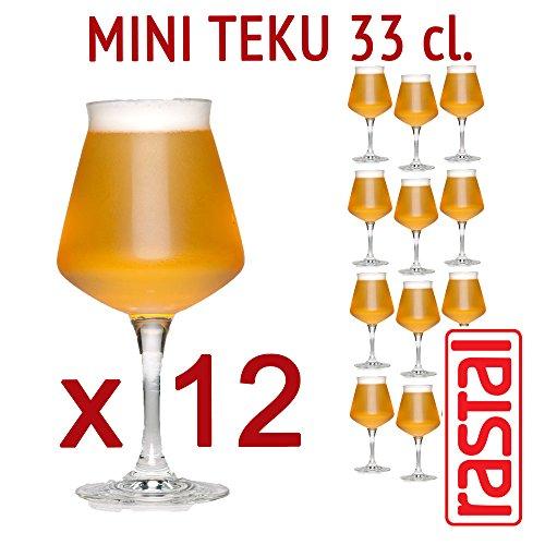 Rastal - 12 verres pack modèle MINI TEKU - 33 cl (11,6 Imp.fl.oz.) - Pour la dégustation de bière universelle