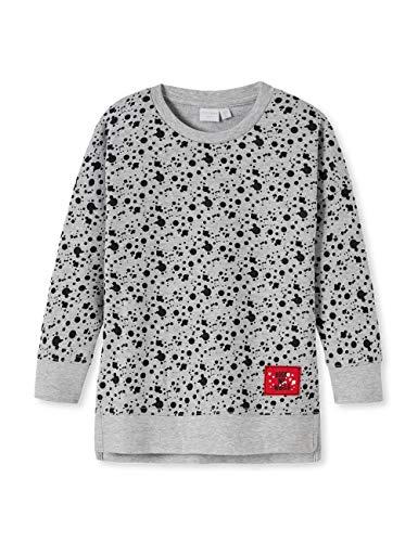 Schiesser Mädchen Punk Rock Sweatshirt, Grau 200, (Herstellergröße: 122) -