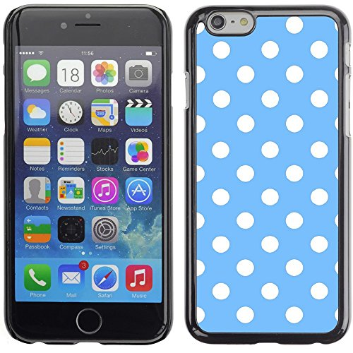 Graphic4You Polka Dots Pattern Design Hard Case Cover for Apple iPhone 6 Plus (Baby Blue) Hellblau