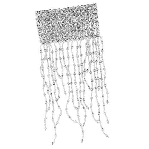 MagiDeal Bauchtanz Armband Perlen Fransen Armkette Handgelenk Schmuck Für Mädchen Damen, Gold/Silber - Silber