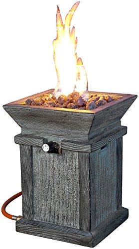 feuerstelle aus gasflasche Carlo Milano Feuerschale: Kompaktes Gas-Heiz- & Dekofeuer für Terrasse und Garten (Gaskamin)