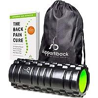 Supportiback® Rodillo con parrilla para masaje en profundidad de los tejidos y los puntos de activación. Rodillo para la espalda rodillo para los músculos para dolores crónicos y recuperación muscular