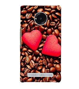 Citydreamz Hearts\Coffee\Love\Romance\Valentine Hard Polycarbonate Designer Back Case Cover For Micromax YU Yuphoria 5010