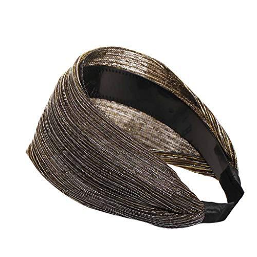 Committede Frauen Stirnband Stirnbänder Vintage elastische Haarband Stirnband Damen Jahrgang Einfarbig Helle Seide 1 Stück Haarbänder Niedlichen Haarschmuck -
