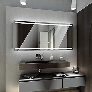 Badspiegel mit LED Beleuchtung von Spiegel-Magic | Wandspiegel Badezimmerspiegel | B x H: 140 cm x 50 cm | Manila Design
