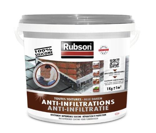 Rubson Revêtement Anti-Infiltrations Stop fuite Gris 1 kg, pour réparation & étanchéité de...