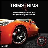 Trims4Rims - Protectores de llantas de aleación, color rojo