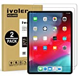 iVoler [2-Unidades] Protector de Pantalla para iPad Pro 12.9 Pulgadas 2018, Cristal Vidrio Templado Premium para iPad Pro 12.9'' 2018 [9H Dureza] [Alta Definicion 0.3mm] [2.5D Round Edge]